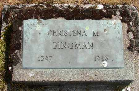 BINGMAN, CHRISTENA M - Polk County, Oregon | CHRISTENA M BINGMAN - Oregon Gravestone Photos