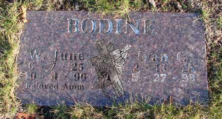 BODINE, W JUNE - Polk County, Oregon | W JUNE BODINE - Oregon Gravestone Photos