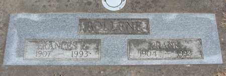 BOLLENE, FRANCES LEONA - Polk County, Oregon | FRANCES LEONA BOLLENE - Oregon Gravestone Photos
