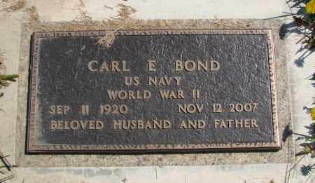 BOND, CARL E - Polk County, Oregon | CARL E BOND - Oregon Gravestone Photos