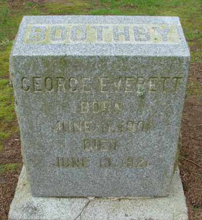 BOOTHBY, GEORGE EVERETT - Polk County, Oregon | GEORGE EVERETT BOOTHBY - Oregon Gravestone Photos