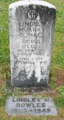 BOWLES (WWI), LINDSAY MURRAY - Polk County, Oregon   LINDSAY MURRAY BOWLES (WWI) - Oregon Gravestone Photos