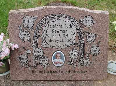 BOWMAN, ROSEANNA RUTH - Polk County, Oregon | ROSEANNA RUTH BOWMAN - Oregon Gravestone Photos