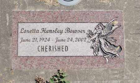BOWSER, LORETTA - Polk County, Oregon | LORETTA BOWSER - Oregon Gravestone Photos
