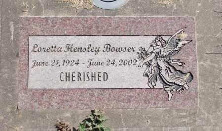 HENSLEY BOWSER, LORETTA - Polk County, Oregon   LORETTA HENSLEY BOWSER - Oregon Gravestone Photos