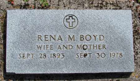 BOYD, RENA M - Polk County, Oregon | RENA M BOYD - Oregon Gravestone Photos