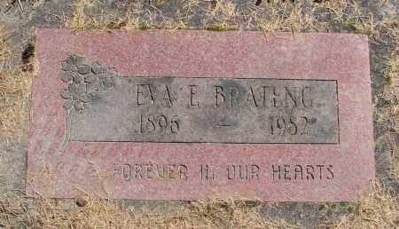 BRATENG, EVA E - Polk County, Oregon | EVA E BRATENG - Oregon Gravestone Photos