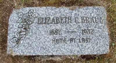 BRAUN, ELIZABETH C - Polk County, Oregon | ELIZABETH C BRAUN - Oregon Gravestone Photos