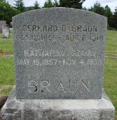 BRAUN, KATHARINA - Polk County, Oregon | KATHARINA BRAUN - Oregon Gravestone Photos