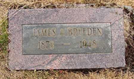 BREEDEN, JAMES A - Polk County, Oregon | JAMES A BREEDEN - Oregon Gravestone Photos