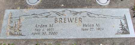 BREWER, ARDEN M - Polk County, Oregon | ARDEN M BREWER - Oregon Gravestone Photos