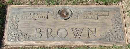 BROWN, ALDEN J - Polk County, Oregon | ALDEN J BROWN - Oregon Gravestone Photos