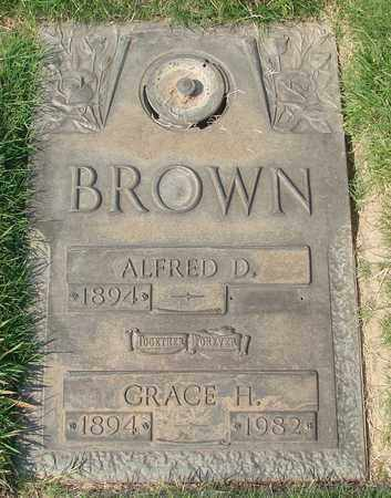 BROWN, ALFRED D - Polk County, Oregon | ALFRED D BROWN - Oregon Gravestone Photos
