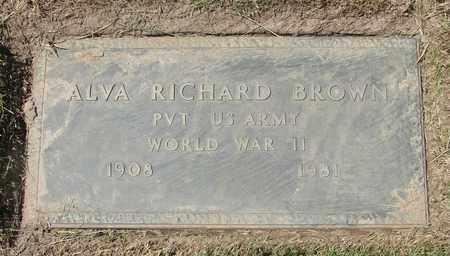 BROWN, ALVA RICHARD - Polk County, Oregon | ALVA RICHARD BROWN - Oregon Gravestone Photos