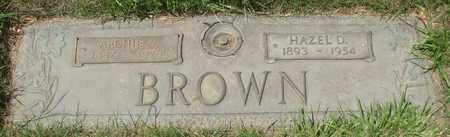BROWN, HAZEL D - Polk County, Oregon | HAZEL D BROWN - Oregon Gravestone Photos
