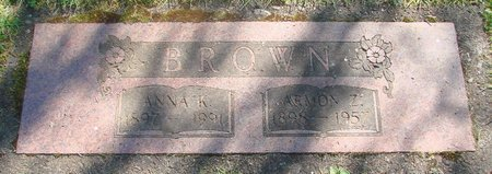 BROWN, ANNA - Polk County, Oregon | ANNA BROWN - Oregon Gravestone Photos