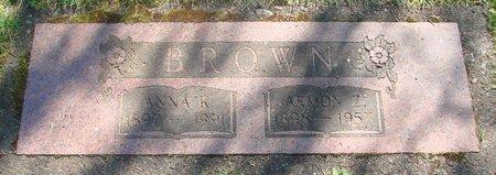 BROWN, ARMON ZOLA - Polk County, Oregon | ARMON ZOLA BROWN - Oregon Gravestone Photos