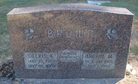 BROWN, DEERIS ASENITH - Polk County, Oregon | DEERIS ASENITH BROWN - Oregon Gravestone Photos