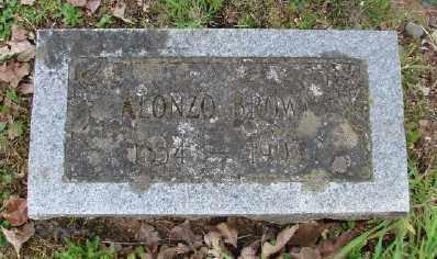 BROWN, ALONZO - Polk County, Oregon   ALONZO BROWN - Oregon Gravestone Photos