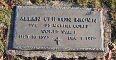 BROWN (WWI), ALLAN CLIFTON - Polk County, Oregon   ALLAN CLIFTON BROWN (WWI) - Oregon Gravestone Photos