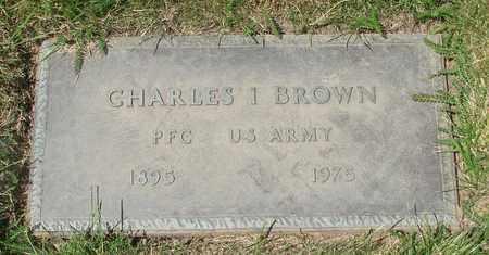 BROWN, CHARLES IVA - Polk County, Oregon | CHARLES IVA BROWN - Oregon Gravestone Photos