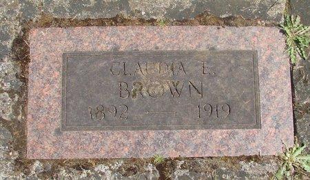 BROWN, CLAUDIA ETHEL - Polk County, Oregon | CLAUDIA ETHEL BROWN - Oregon Gravestone Photos