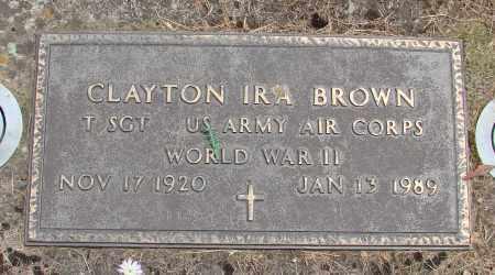 BROWN, CLAYTON IRA - Polk County, Oregon | CLAYTON IRA BROWN - Oregon Gravestone Photos