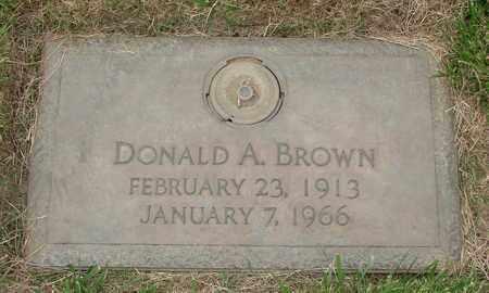 BROWN, DONALD ANDREW - Polk County, Oregon | DONALD ANDREW BROWN - Oregon Gravestone Photos