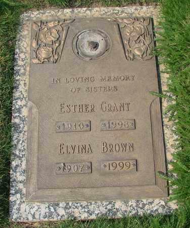 BROWN, ELVINA - Polk County, Oregon   ELVINA BROWN - Oregon Gravestone Photos