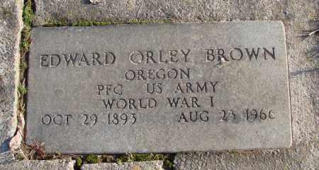 BROWN, EDWARD ORLEY - Polk County, Oregon | EDWARD ORLEY BROWN - Oregon Gravestone Photos