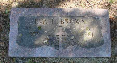 BROWN, EVA L - Polk County, Oregon | EVA L BROWN - Oregon Gravestone Photos