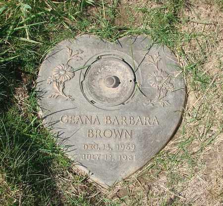 BROWN, GEANA BARBARA - Polk County, Oregon | GEANA BARBARA BROWN - Oregon Gravestone Photos