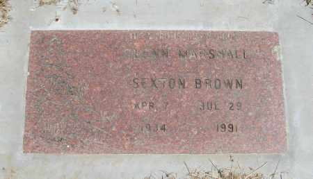 BROWN, GLENN MARSHAL SEXTON - Polk County, Oregon | GLENN MARSHAL SEXTON BROWN - Oregon Gravestone Photos