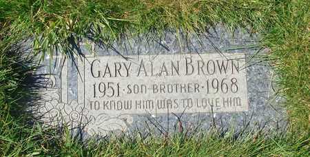 BROWN, GARY ALAN - Polk County, Oregon | GARY ALAN BROWN - Oregon Gravestone Photos