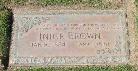 BROWN, INICE - Polk County, Oregon   INICE BROWN - Oregon Gravestone Photos