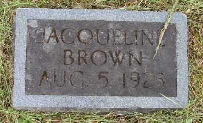 BROWN, JACQUELINE - Polk County, Oregon | JACQUELINE BROWN - Oregon Gravestone Photos