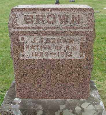 BROWN, JEREMIAH JEWETT - Polk County, Oregon | JEREMIAH JEWETT BROWN - Oregon Gravestone Photos