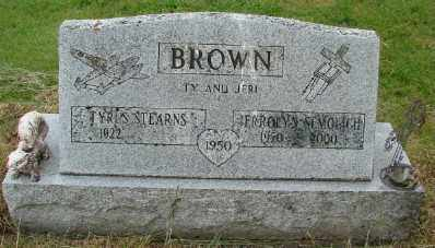 BROWN, TYRUS STEARNS - Polk County, Oregon | TYRUS STEARNS BROWN - Oregon Gravestone Photos