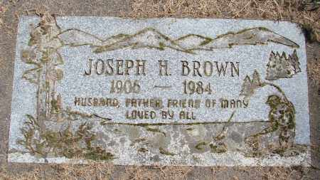 BROWN, JOSEPH H - Polk County, Oregon | JOSEPH H BROWN - Oregon Gravestone Photos