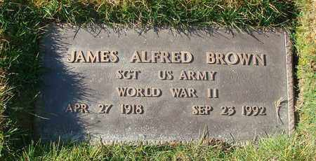 BROWN, JAMES ALFRED - Polk County, Oregon | JAMES ALFRED BROWN - Oregon Gravestone Photos