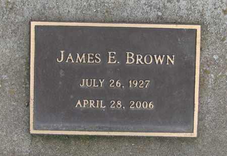 BROWN, JAMES EDWARD - Polk County, Oregon | JAMES EDWARD BROWN - Oregon Gravestone Photos