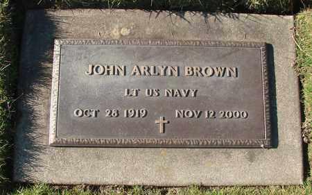BROWN, JOHN ARLYN - Polk County, Oregon   JOHN ARLYN BROWN - Oregon Gravestone Photos