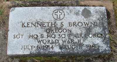 BROWN, KENNETH S - Polk County, Oregon | KENNETH S BROWN - Oregon Gravestone Photos