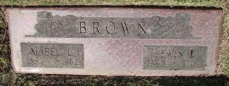 BROWN, LEWIS LENORE - Polk County, Oregon   LEWIS LENORE BROWN - Oregon Gravestone Photos