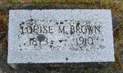 BROWN, LOUISE MARIA - Polk County, Oregon | LOUISE MARIA BROWN - Oregon Gravestone Photos