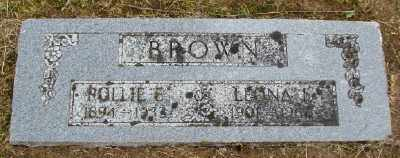 BROWN, ROLLIE EDWARD - Polk County, Oregon | ROLLIE EDWARD BROWN - Oregon Gravestone Photos