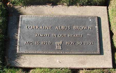 BROWN, LORRAINE ALBUS - Polk County, Oregon | LORRAINE ALBUS BROWN - Oregon Gravestone Photos