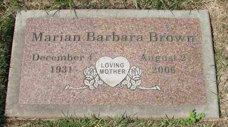 BROWN, MARIAN BARBARA - Polk County, Oregon | MARIAN BARBARA BROWN - Oregon Gravestone Photos