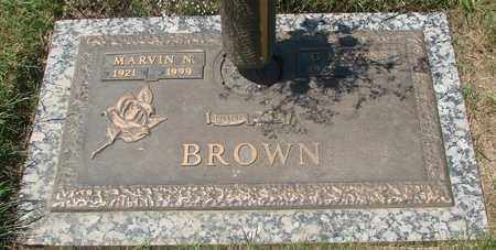 BROWN, MARVIN NEAL - Polk County, Oregon | MARVIN NEAL BROWN - Oregon Gravestone Photos
