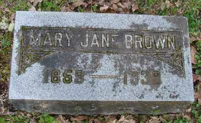 BROWN, MARY JANE - Polk County, Oregon   MARY JANE BROWN - Oregon Gravestone Photos